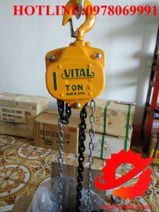 Pa lăng xích kéo tay vital 1 tấn