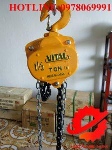 Pa lăng xích kéo tay vital 1.5 tấn