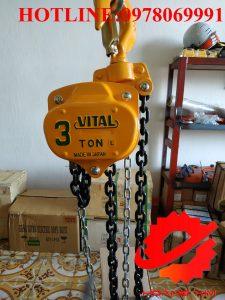 Pa lăng xích kéo tay vital 3 tấn