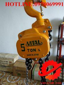 Pa lăng xích kéo tay vital 5 tấn