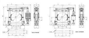 Kích thước phanh thủy lực tang trống YWZ4