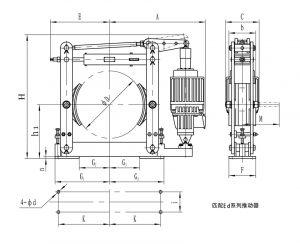 Kích thước phanh thủy lực YWZ4